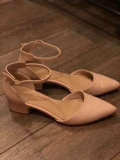 Aldo Flats with Ankle Straps