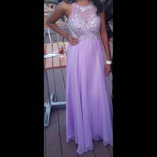 Purple/lilac Evening Gown