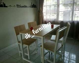Meja makan cafe resto murah 1 set