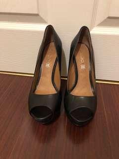 ALDO peep toe black heels