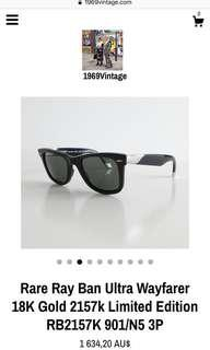 VINTAGE LIMITED EDITION RAY BANS