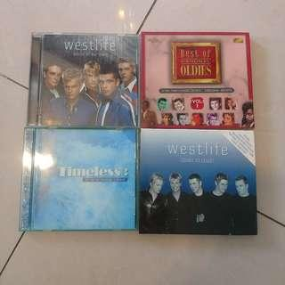 westlife coast to coast, westlife world of our own, timeless 3 it's a long road, best of original oldies vol 1