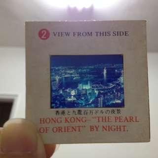 *昭和時期老物*2號 九龍百萬夜景 KELAYNA香港風景幻燈片