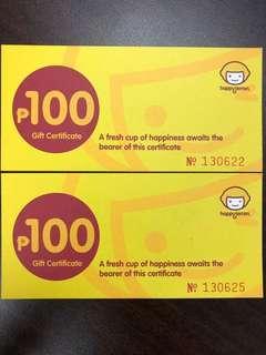 Happy Lemon Gift Certificate (P25 off)