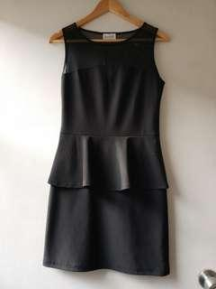 Pre-loved Black Dress with Peplum