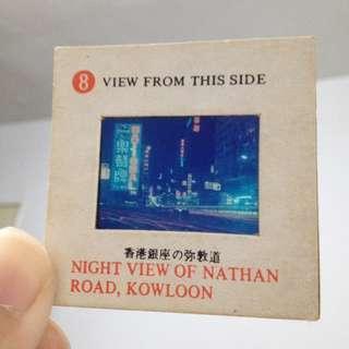 *昭和時期老物*8號 彌敦道夜景 KELAYNA香港風景幻燈片