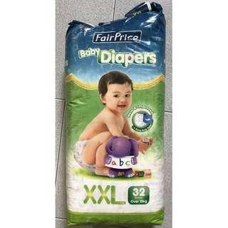 Fairprice Baby Tape Diapers XXL 31 Piece Above 15kg Cheap Breathable