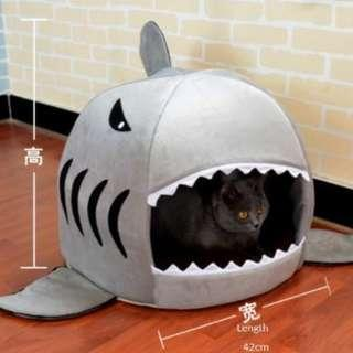 Pet Dog Cat Bed Soft Bed Shark (SMALL)