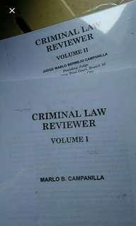 Law Book - 2018 Campanilla Crim Law Reviewer (SET)