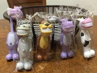 可愛動物造型兒童牙刷