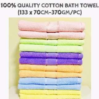 🚚 【INSTOCKS!】100% QUALITY COTTON BATH TOWEL IN PASTEL COLOURS (370GM/TOWEL) 😍