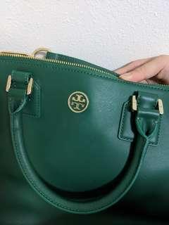 Tory Burch satchel and top handle bag (Emerald green)