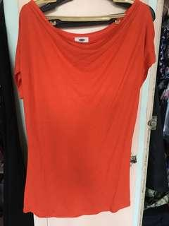 Old Navy Orange Shirt