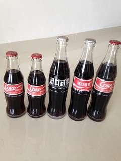 🚚 90s Indo Malaysia Indonesia Coca Cola Clear Glass Bottles Coke 193ml 285ml 295ml (you pick one)