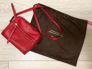 Kate Spade Red Leather Mini Shoulder Bag