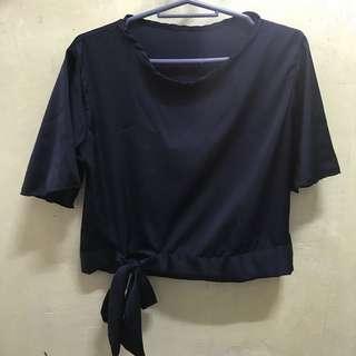 BNWT Blue Silk Top