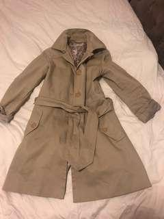 Small beige banana republic trench coat