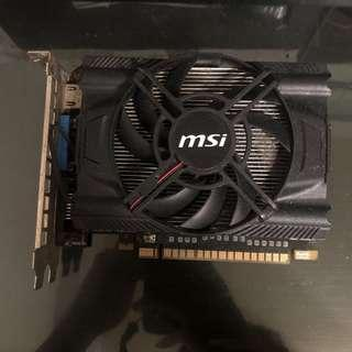 🚚 MSI 微星 N650-MD1GD5/OC 1G GDDR5 PCI-E GTX650 顯示卡