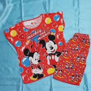 Piyama Mickey and Minnie Freesize