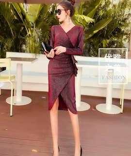 Red bling bling dress