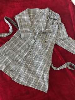 🚚 Stylish Plaid coat blazer dress