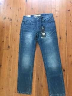 Bnwt men's mossimo straight leg denim jeans size 32 RRP $110