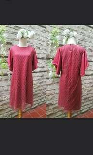 (SALE) maroon brukat dress
