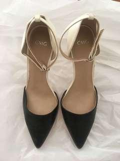 CMG two tone heels