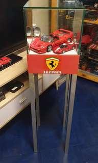 Shell Ferrari Diecast in Display Cabinet