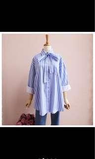 stripe shirt with bow