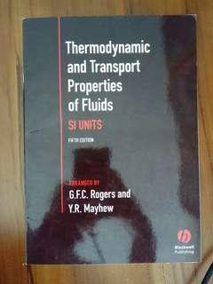 Thermodynamic and Transport Properties of Fluids SI Units (5th edition) by Rogers and Mayhew