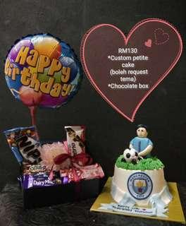 Custom cake with chocolate box