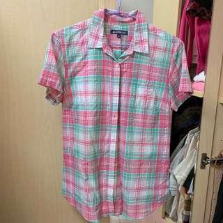 🚚 HANGTen 格紋短袖襯衫(二手)