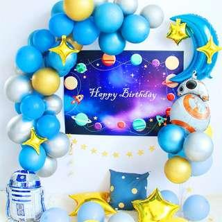 🚚 Star wars theme balloon decoration for birthday parties