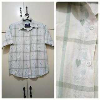 WA1051 Company One Polo Blouse with Hearts