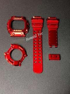 🚚 Custom Glossy Red Iron Man Theme replacement strap for G-Shock king , gx56 , gxw56 , gx-56 , gxw-56 , Gx56bb , red G-Shock king , Casio