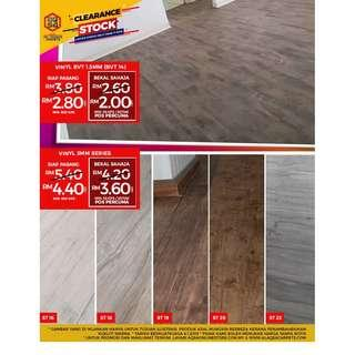 Stock Clearance Sale For Wood Vinyl- Price Starting just From RM2/sqft