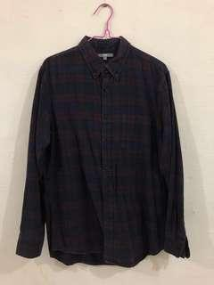 🚚 Uniqlo Men's Flannel Long Sleeve Shirt