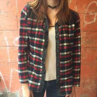 Grunge Plaid Pullover