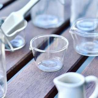 小玻璃杯 量杯 寬口窄腳 日本直送