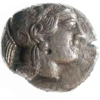 🚚 Ancient Greek Owl Silver Tetradrachm, First international trade currency 454-404 BC