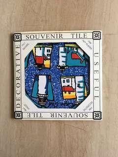 Souvenir tile (heat proof, hot plate)