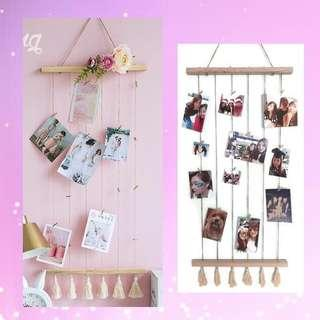 🚚 Photo string tassel decoration with pegs
