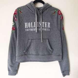 HOLLISTER Short Embroidered Hoodie