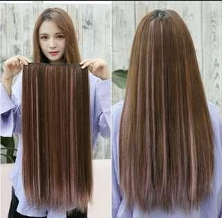 INSTOCK Two tone ombré dip dyed clip on straight hair extensions