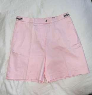 Burberry Golf pink shorts