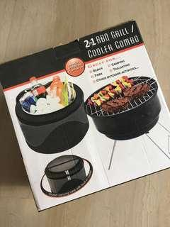 2 in 1 cooler bag BBQ grill combo