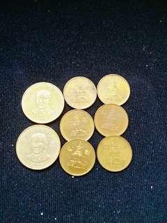 臺灣+韓國8杖硬幣
