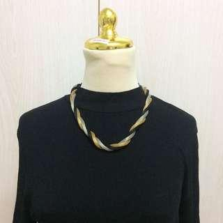 Silver Black Gold Necklace