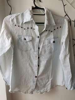 Denim style long sleeves